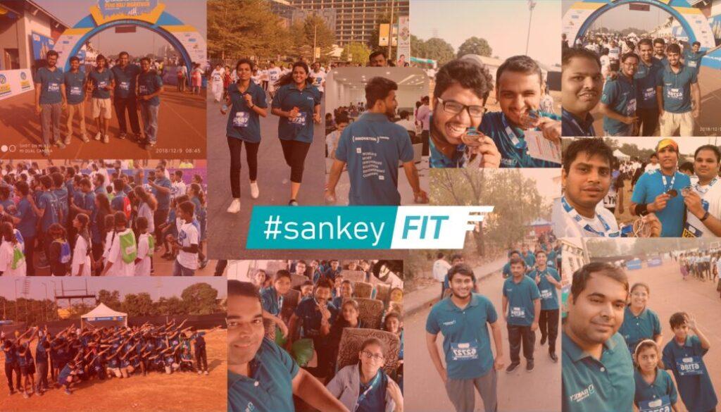 Sankians participating in Marathon